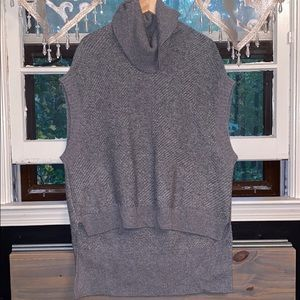 Cowl Neck Gray Poncho Sweater